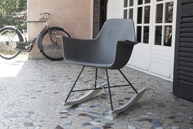 beton, szék, Eames, vas, francia, design, bútor, kültéri, Henri Boget és Julie Legros, Hautville, Lyon Beton