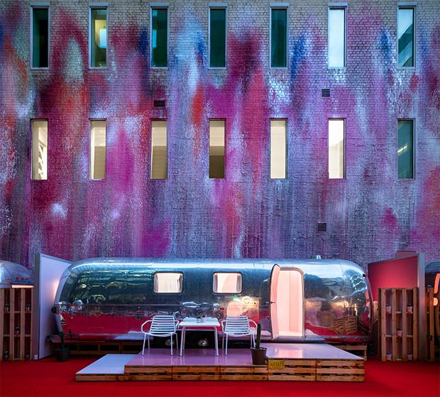 lakókocsi, szállás, szálloda, Melbourne, Ausztrália, jacuzzi, luxus, Note, FMSA Architecture, Edwards Moore Architects