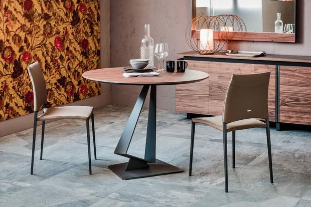 asztal, étkezőasztal, kerek, olasz, design, Catellan Italia, Roger Italia
