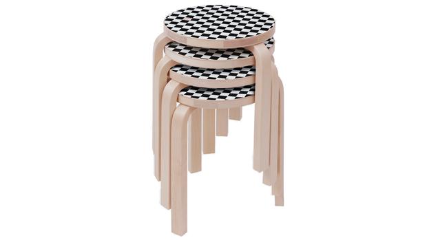 szék, asztal, sakktáblaminta, design, bútor, ikonikus, Avlar, Aalto, Supreme, Artek