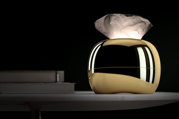 zsebkendőtartó, design, kerekded, krómozott, Mordeco Design, Mirro