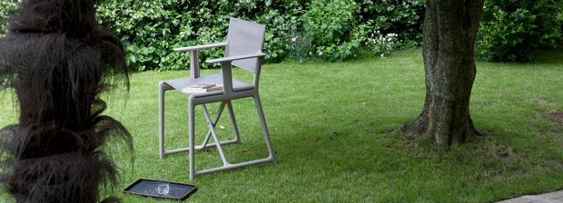 rendezői szék, Magis, Philippe Starck, összecsukható, karfás
