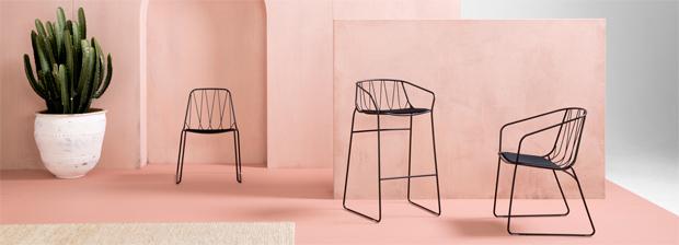 bútor, kültéri, Tom Fereday, SP01, szék, asztal, bárszék