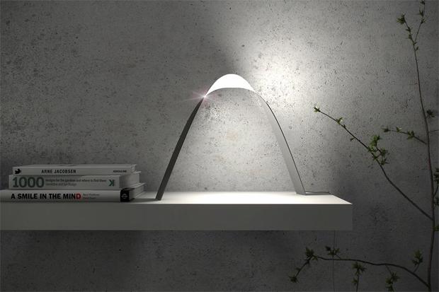 lámpa, OLED, vékony, Hajlítható, érintős, Link, Rui Alexandre Antunes da Palma