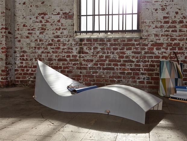 lounge, bútor, nyugágy, összehajtható, helytakarékos, rétegelt lemez, ponyva, Koii, kültéri